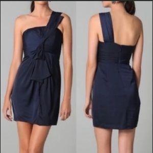 bcbgmaxazria one shoulder dress sz 10